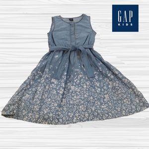 Gap Cotton Blue Dress Like New Medium 7 8
